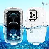 PULUZ - Funda para iPhone 12/12 Pro, carcasa profesional para fotografía subacuática [40 m/131 pies], buceo, surf, natación, esnórquel, fotografía subacuática, funda para iPhone 12/12 Pro