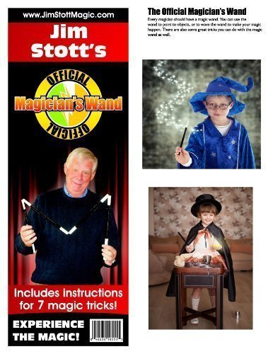 Jim Stott's 'Official Magician's Magic Wand Kit' Magic Set Includes Magic Wand, Zig Zag Pencil, Two Card Monte, Spot Card, Instructional Videos and More!