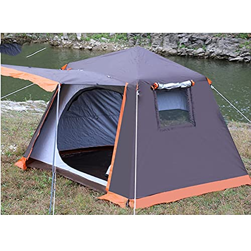 Tienda de campaña instantánea automática de fácil configuración, ideal para playa, viajes, senderismo, camping, caza, pesca (color: marrón, tamaño: 210 x 210 x 175 cm)