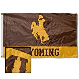College Flags & Banners Co. Wyoming Embroidered and Stitched Nylon Flag