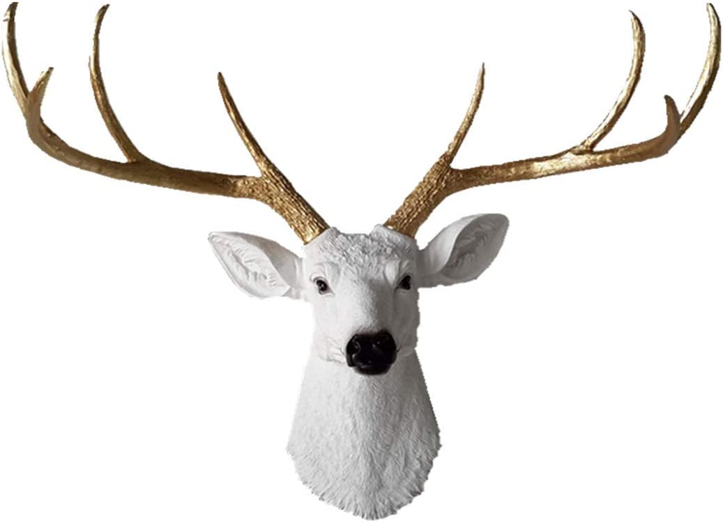 Larger Faux Deer Head - Wall Finally popular New arrival brand Rustic Taxi Antlers Decor
