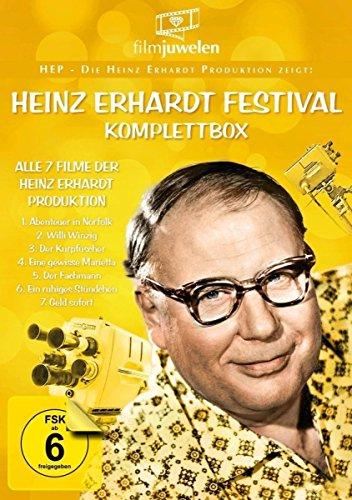 Heinz Erhardt Festival Komplettbox - Die ARD-Serie mit allen 7 Filmen der Heinz Erhard Produktion inkl. Willi Winzig & Geld sofort (Fernsehjuwelen) [3 DVDs]
