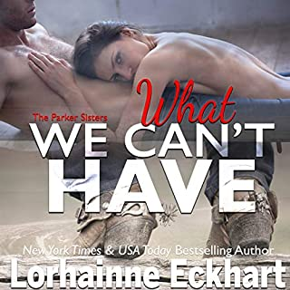 What We Can't Have     The Parker Sisters, Book 4              By:                                                                                                                                 Lorhainne Eckhart                               Narrated by:                                                                                                                                 Teri Clark Linden                      Length: 3 hrs and 53 mins     5 ratings     Overall 4.8