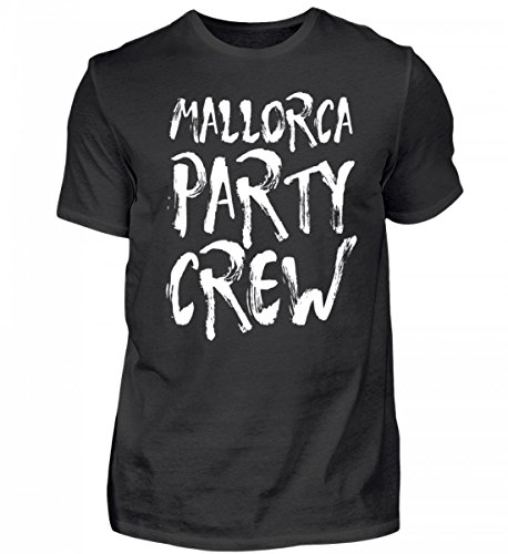 Hochwertiges Herren Shirt - Mallorca Party Crew - Witziges Saufen Feiern Spruch T-Shirt für Partyurlaub auf Malle