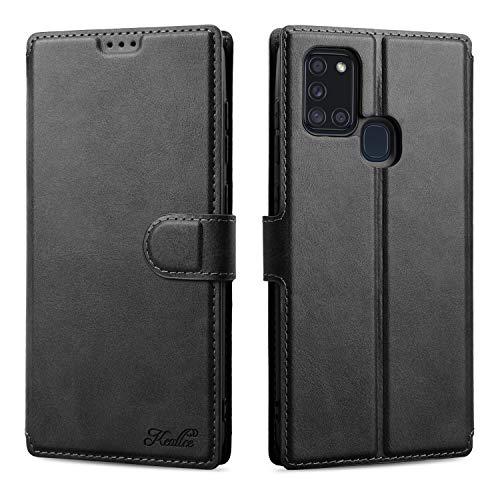 Keallce für Samsung Galaxy A21S Hülle, Handy Lederhülle PU Leder Hülle Brieftasche Handytasche Cover Kompatibel für Samsung Galaxy A21s Ledertasche-6.5
