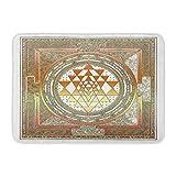 AoLismini Badematte Siryantra Yoga Symbol Meditation Indien Srichakra Weiß Kupfer Leistungsstarke Badezimmer Dekor Teppich