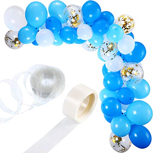 112 Pieces White Blue Balloon Garland Kit Balloon Arch Garland for Wedding Birthday Party Baby Shower Decorations