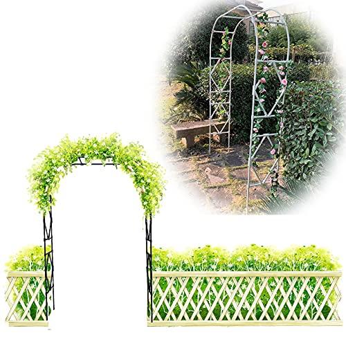 Gnova Arco per rampicanti ad arco di rose rampicanti, decorazione giardino, pergola, gazebo in metallo, antiossidante