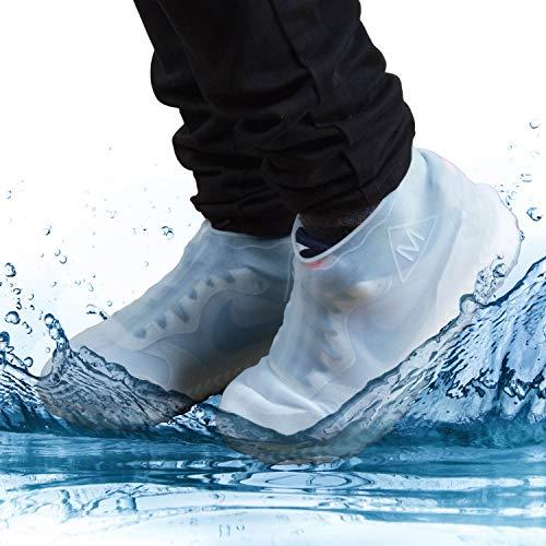 GOODS+GADGETS Silikon Überschuhe wasserdichte Schuh-Überzieher rutschfeste Regen-Schuhe Wiederverwendbare Schuhschoner (M (34-39))