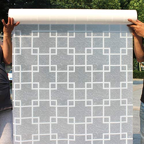 N / A Gefrorene Sichtschutzfensterfolie aus farbigem Netz, farbige Glasfolie, undurchsichtige dekorative Aufkleber, dekorative Heimglasfolie A4 50x200 cm