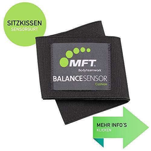 MFT Balance Sensor Cushion I Flexband für das SITZKISSEN inkl. Fitness Trainer App I Rückentrainer für Büro und Zuhause I Via Blueetoth verbinden I ohne Sitzkissen