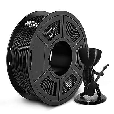 PETG 3D Printer Filament - 1.75mm PETG Filament, 1kg(2.2lbs) PETG 3D Filament for 3D Printer 3D Pen, Dimensional Accuracy +/- 0.02mm, Black