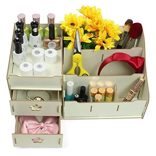 WPC Makeup Cosmetic Box Drawers Holder Storage Perfume Jewellery Case Organizer Cabinet