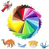 100pcs Papel de Origami, 50 Colores Papel de Origami Set, Papel Origami 17 x 17 cm Para DIY Proyectos de Artes y Artesanía