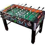 WHTBB 48' Mesa de futbolín, Competencia Cuadro de Juego de fútbol de tamaño Fútbol Arcade for Adultos, niños, Sala de Juegos de Deportes de Interior