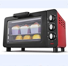 15L Mini Oven, Independent Temperature Control 1200W Small Electric Oven, Christmas Day Multi-Layer Grill 60 Minutes Can B...