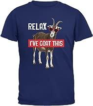 Animal World Relax I've Goat Got This Metro Blue Adult T-Shirt