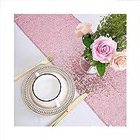 HETHYAN ウェディングクロシクリス誕生日パーティーデコレーションのための桃ピンクスパンコールテーブルランナー (Color : 4, Size : 12x90inch 30x225cm)