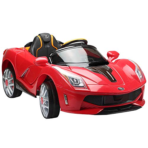 Homcom - Voiturette électrique 12 V pour enfant de 3 à 8 ans (130 x 71 x 52 cm, port MP3) rouge