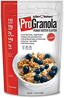 Julian Bakery ProGranola 12g Protein : Peanut Butter Cluster : (Low Net Carb : Gluten-Free : Grain-Free) (14 Servings)
