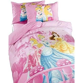 Copripiumino Principesse.Disney Set Copripiumino Principesse Story Caleffi Amazon It