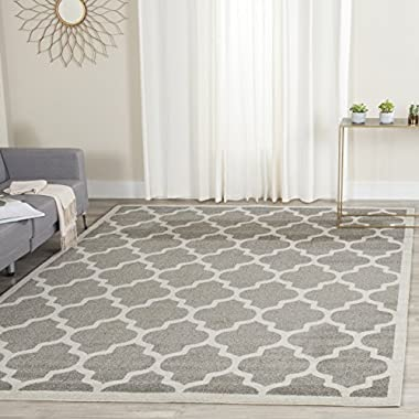 Safavieh Amherst Collection AMT420R Dark Grey and Beige Indoor/ Outdoor Area Rug (5' x 8')