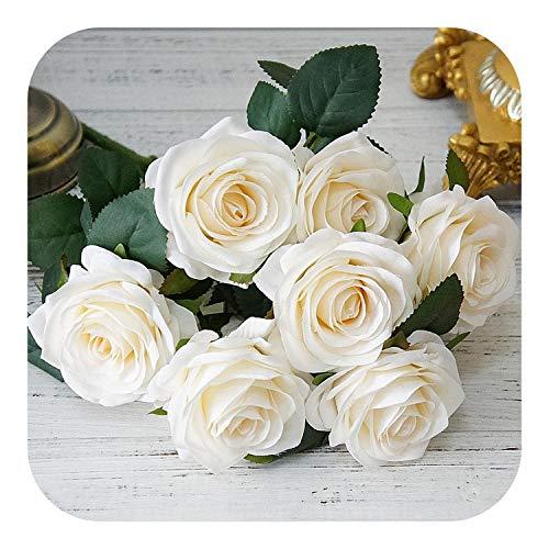 10 x Gerbera rosa//amarillo cabezas de flores flores arte-seidenblumen