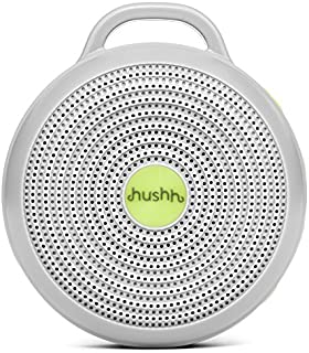 Marpac Hushh Portable White Noise Machine for Baby   3 Soothing, Natural Sounds with Volume Control Baby-Safe Clip & Child Lock, Gray, 3.7 ounces