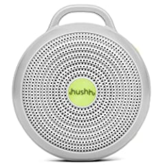 The Hushh effectively masks noises that may disturb or distract for improved sleep for adults, babies, and children Choose from 3 soothing sounds: bright white noise, deep white noise, or gentle surf, then set the volume; features a child lock and ge...