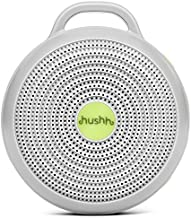 Marpac Hushh Portable White Noise Sound Machine for Baby, 3 Soothing, Natural with Volume Control Safe Clip & Child Lock, Gray, 3.7 Oz