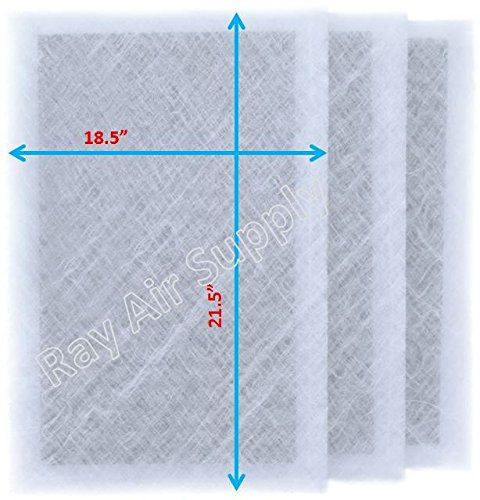 RAYAIR SUPPLY 20x24 Air Ranger Replacement Filter Pads 20X24 (3 Pack) White