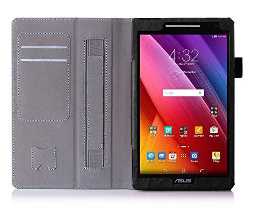 cover tablet asus zenpad 8.0 ISIN Custodia Tablet Serie Premium Pelle PU Stand Cover per ASUS Zenpad 8 pollici Tablet Z380C Z380KL con Cinturino in Velcro e Slot per Schede Nero