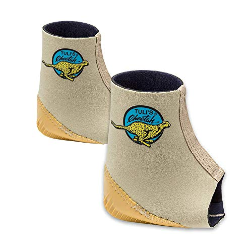 Tuli's Cheetah Heel Cup with Compression Ankle Support Sleeve, Foot Protection for Gymnasts and Dancers, Lightweight, Fitted Small, 1 Pair