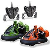 Kidirace Rc Bumper Cars | Remote Control Cars - Set of 2 with Rechargeable Batteries and Wall Charger | 2.4Ghz Multiplayer Technology | Easy and Fun to Play