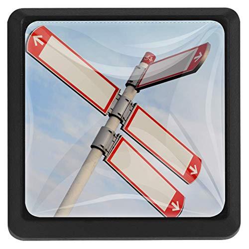 Lange weg vierkante lade knoppen trekken handgrepen 3 Pack gebruikt voor keuken, dressoir, deur, kast Modern design 37x25x17mm/1.45x0.98x0.66in Teken