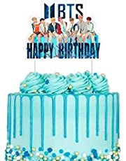BTS Cake Topper Birthday Decoration Party Supplies Cupcake Toppers for Girl, Star Blue, 1 count