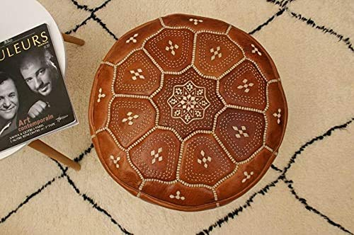 Handmade leather Moroccan Cheap Our shop most popular Pouf Ottoman Living Bohemian