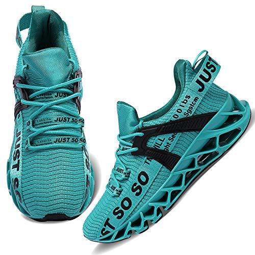 Wonesion Damen Laufschuhe Sportschuhe Straßenlaufschuhe Sneaker Damen Tennisschuhe Fitness Schuhe 39 EU 3 Blau