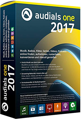 Preisvergleich Produktbild Audials One 2017 Lizenz (PKC / Download) Win 7, 8, 10