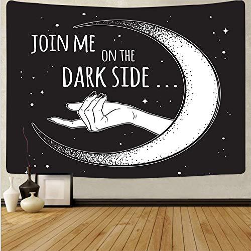 Tapiz psicodélico de Sun Moon para colgar en la pared, tapiz de pared en blanco y negro, decoración del hogar, tapiz de tela de fondo, tapiz A14 180x230cm