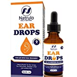 Natrulo Natural Ear Drops for Ear Infection Treatment -Homeopathic, Herbal Eardropsfor Adults, Children & Pets - Relieves Ear Aches, Infections, Swimmer's Ear, Loosens Wax - Kids Safe, Made in USA