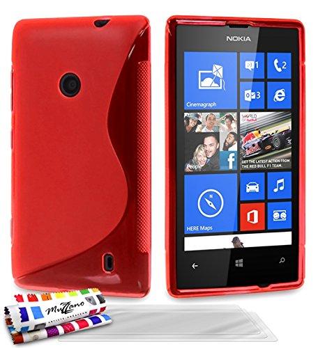 MUZZANO Original S-Cover Flessibile, con 3 pellicole Proteggi Schermo Ultraclear, per Nokia Lumia 520, Colore: Trasparente