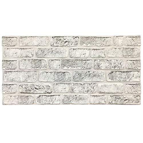 IZODEKOR Wandverkleidung Steinoptik Styropor 3D Wandpaneele - Verblender Steinoptik für Küche, Badezimmer, Balkon, Schlafzimmer, Wohnzimmer, Küchenrückwand und Teras | Weiss Grau