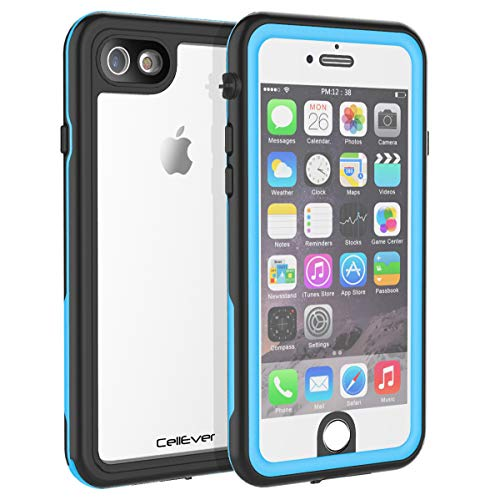 CellEver iPhone 6 / 6s Waterproof Case Shockproof IP68 Certified SandProof Snowproof Full Body Protective Clear Transparent Cover Fits Apple iPhone 6 and iPhone 6s (4.7 Inch) KZ Sky Blue