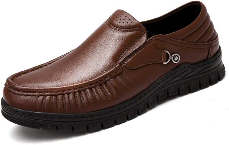 Leather shoes Men's shoes New Waterproof Non-Slip Fashion Casual shoes Casual shoes Men's shoes Abrasion Resistant (color   A, Size   44)