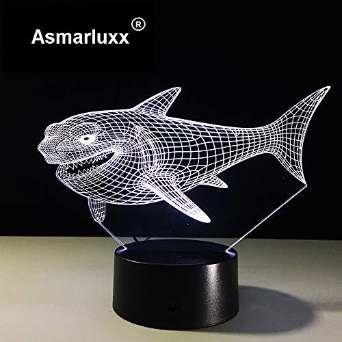 Shark Top Quality Mood Friend & Holiday Night Light 3D LED Lámpara de mesa regalo de cumpleaños para niños decoración de la habitación junto a la cama