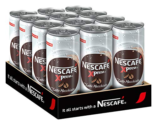 NESCAFÉ Xpress Latte Macchiato, ready to drink Eiskaffee, 12er Pack (12 x 250ml)