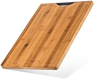 Best Designed Organic Bamboo Cutting Board - Thick Strong Bamboo (XL - 18