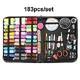 Hangyikj - 200 piezas / Set portátil de viaje de costura, puntadas de hilo, agujas de tejer, herramientas, botones de tela, Craft Scissor Mom regalos, herramientas de costura y accesorios