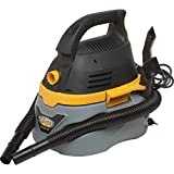 Stinger 2.5 Gallon Wet/Dry Vacuum 1.75 HP, 3.4 Amp Emerson Motor - Converts Into A Blower To Clear Debris - Dent Resistant Plastic Tank - 10' Power Cord 4' Hose With Wide Crevice Tool And Utility Nozzle Filter Included (Shop Tool)